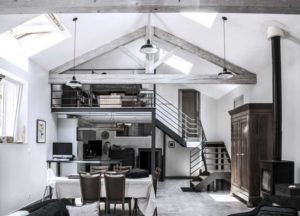 Paper Mill warehouse conversion in France